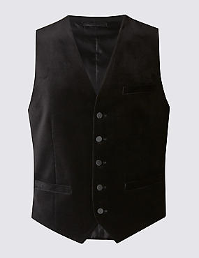 Tailored Fit Pure Cotton Waistcoat