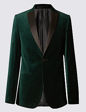Single Breasted 1 Button Velvet Jacket