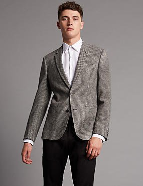 Textured 2 Button Jacket with Buttonsafe™