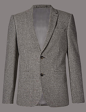 Textured 2 Button Jacket