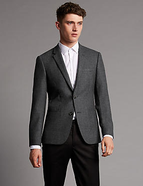 Pure Wool Tailored Fit 2 Button Jacket