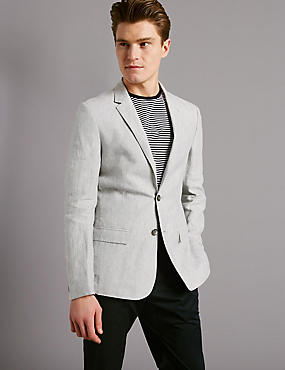 Pure Linen 2 Button Jacket