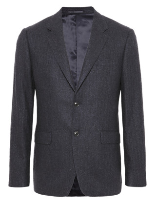 Pure Cashmere 2 Button Herringbone Jacket Clothing