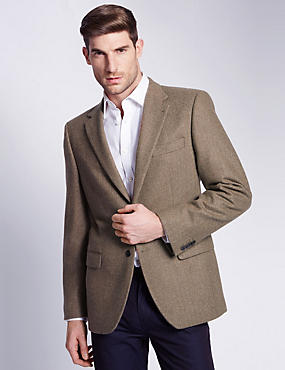 Luxury Pure Cashmere 2 Button Jacket with Buttonsafe™