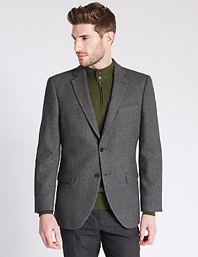Pure Cashmere 2 Button Jacket with Buttonsafe™