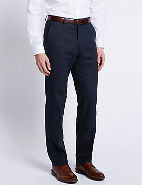Linen Rich Regular Fit Trouser