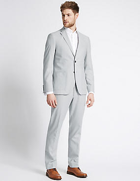 Linen Rich Tailored Fit Jacket