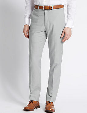 Linen Rich Tailored Fit Trouser