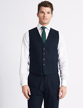 Regular Fit Waistcoat, NAVY, catlanding