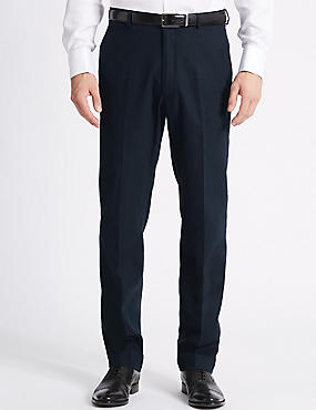 Linen Blend Regular Fit Trousers