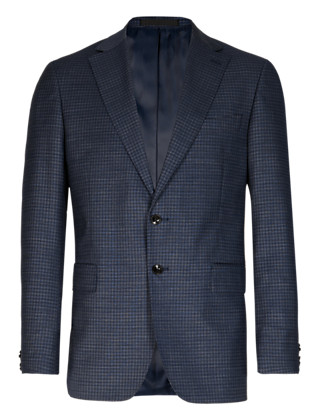 Wool Rich Checked Tailored Fit Jacket Clothing