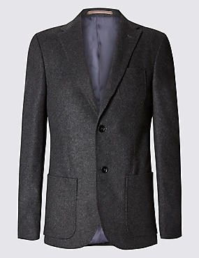 Single Breasted Jacket with Cashmere