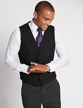 Tailored Fit Waistcoat, CHARCOAL, catlanding