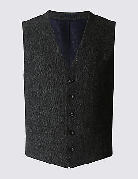 Tailored Fit Waistcoat with Buttonsafe™