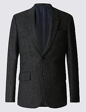 Pure Wool Charcoal Jacket and Waistcoat