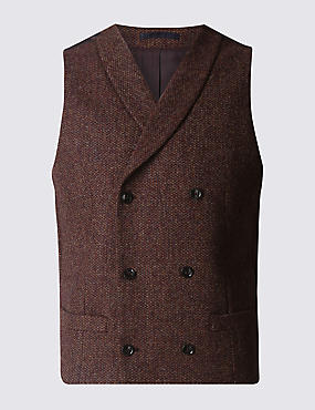 Pure Wool Tailored Fit Waistcoat