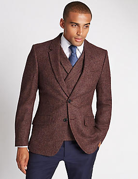 Pure Wool 2 Button Jacket with Buttonsafe™