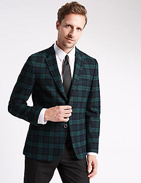 Tailored Fit Single Breasted 2 button Jacket