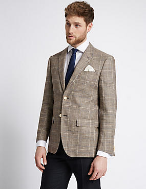 Linen Blend 2 Button Jacket