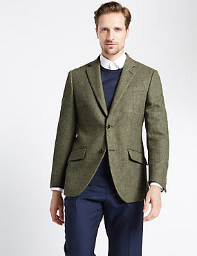 Pure Wool 2 Button Barleycorn Jacket
