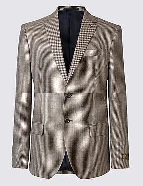 Pure Wool Checked Jacket