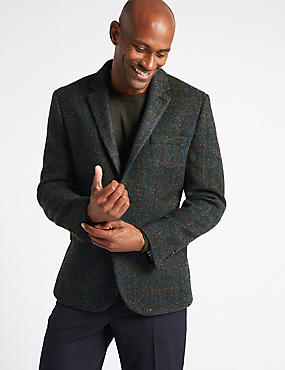 Harris Tweed Pure Wool 2 Button Jacket