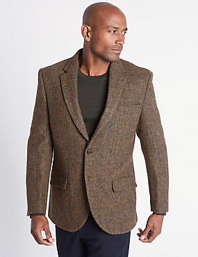 Pure Wool Herringbone Jacket
