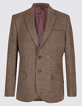 Harris Tweed Pure Wool Herringbone Jacket