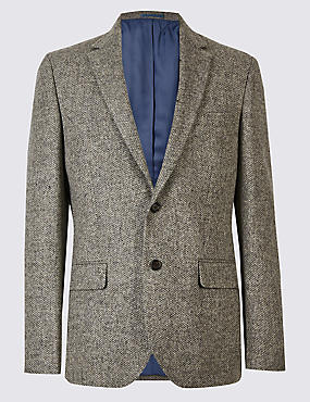 Pure Wool Barleycorn Jacket