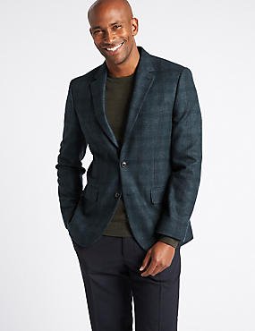 Wool Rich Single Breasted Jacket