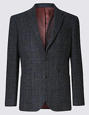 Pure Wool Tailored Fit Harris Tweed Jacket