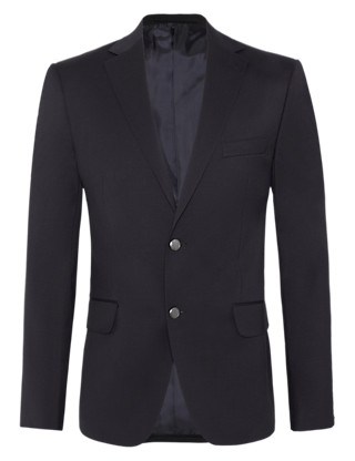 Big & Tall New Performance 2 Button Blazer with Wool Clothing