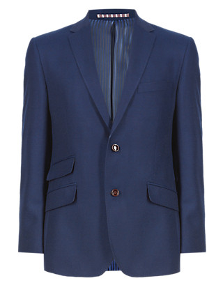 Pure New Wool Tailored Fit 2 Button Blazer Clothing