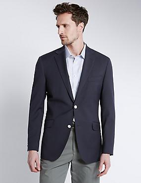 Big & Tall Performance Wool Blend Blazer, NAVY, catlanding