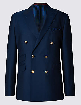 Pure New Wool Double Breasted Blazer