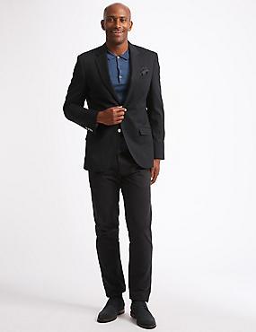 Big & Tall Wool Blend Textured Regular Fit Jacket, NAVY, catlanding
