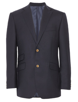 Wool Rich Twill Blazer Clothing