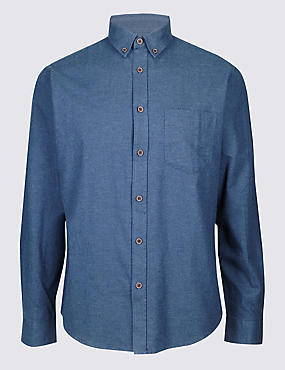 Pure Cotton Shirt with Pocket
