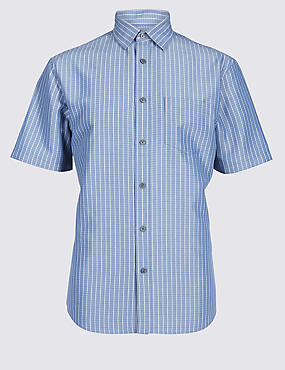 Modal Rich Striped Shirt with Pocket