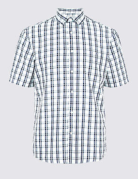 Easy Care Modal Rich Checked Shirt