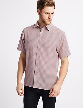 Square Design Printed Shirt, DUSKY ROSE, catlanding