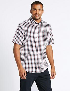 Modal Rich Checked Shirt, OXBLOOD, catlanding