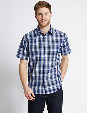 Modal Blend Easy Care Checked Shirt