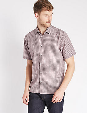 Easy Care Geometric Print Shirt
