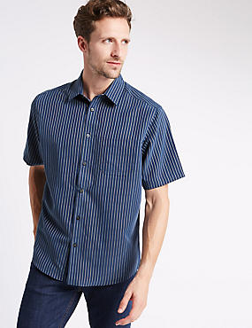 Modal Blend Easy Care Striped Shirt