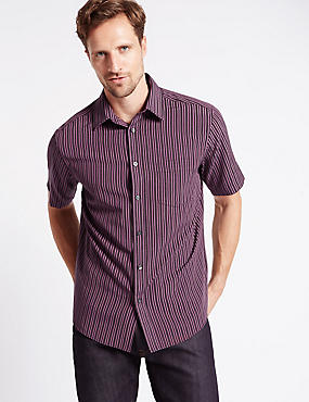 Modal Rich Easy Care Soft Touch Striped Shirt