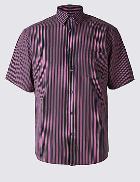 Easy Care Striped Shirt with Pocket
