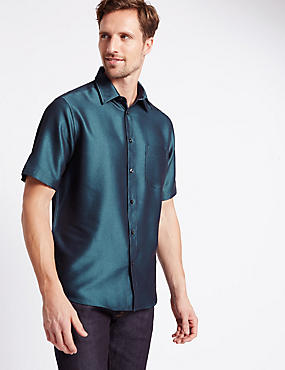 Short Sleeve Easy Care Soft Touch Shirt with Modal