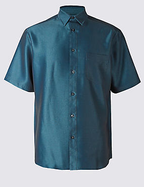 Easy Care Textured Shirt with Pocket