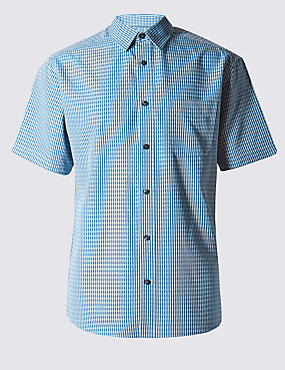 Easy Care Checked Shirt with Pocket